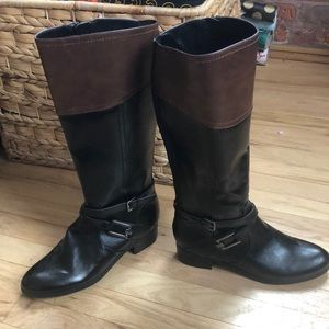 NWOT Over the calf boots